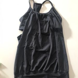Lululemon Black Tank with built in bra- Size 4